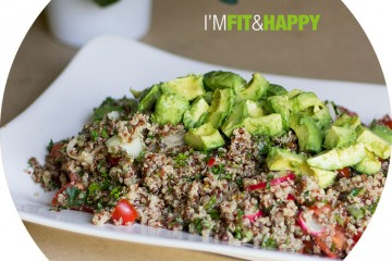 Quinoa Salad with Avocado and Truffle Oil