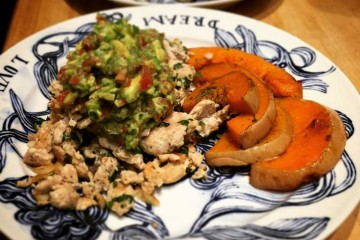 Organic Ground Turkey with Avocado Salsa